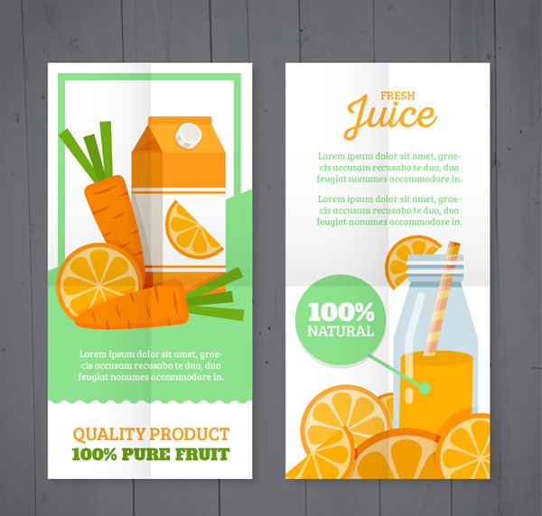 Fresh fruit juice banner
