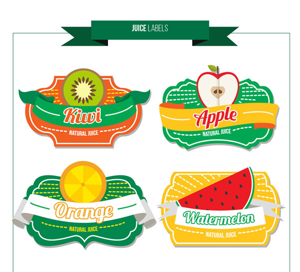 Fruit juice label vector
