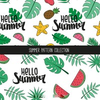 Fruit palm leaf pattern