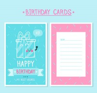 Gift box birthday card
