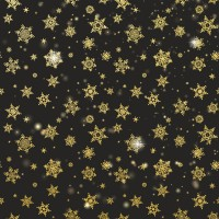 Golden snowflake seamless background