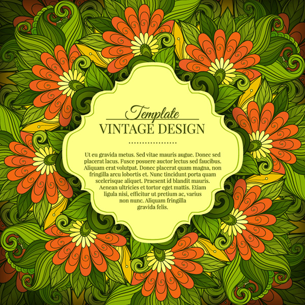 Green pattern text frame