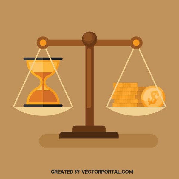 Illustration of time and money