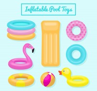 Inflatable toys on water