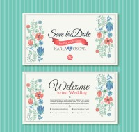 Invitation card for flower wedding