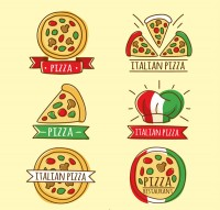 Italy pizza label