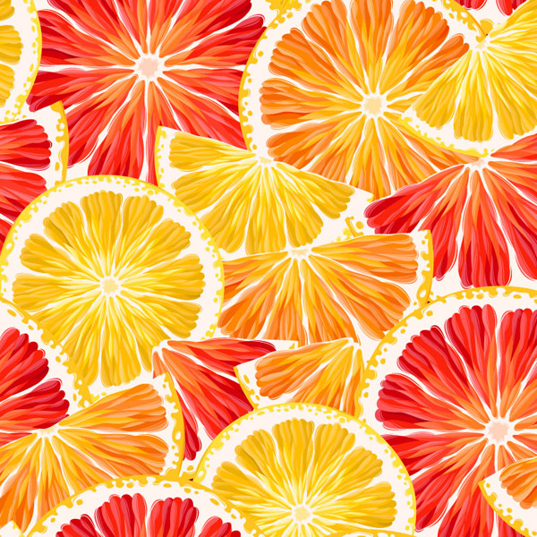 Lemon grapefruit slices background