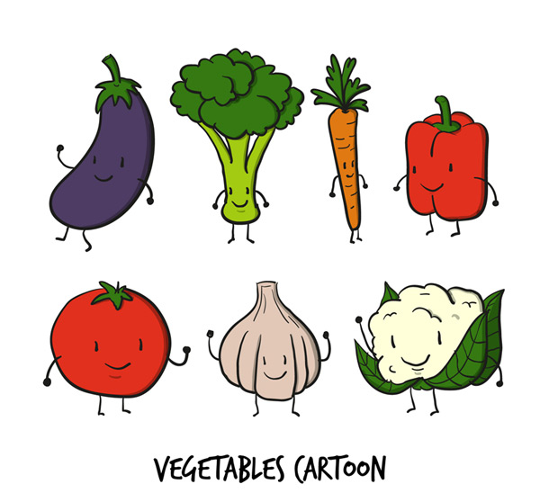 Lovely cartoon vegetables