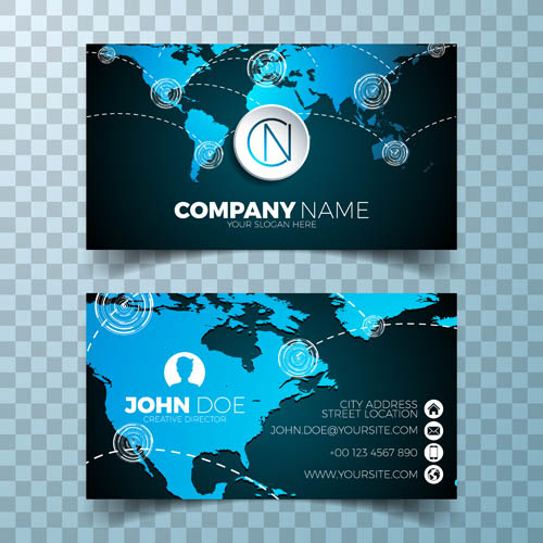 Map element business card