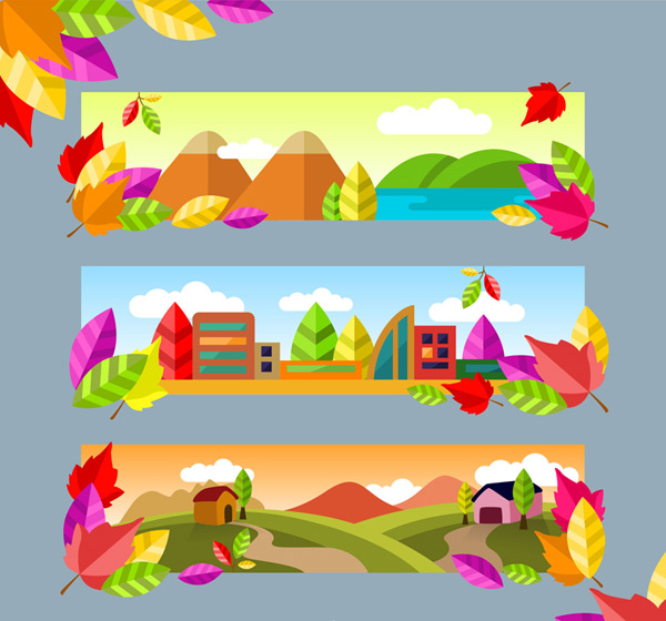Natural scenery banner