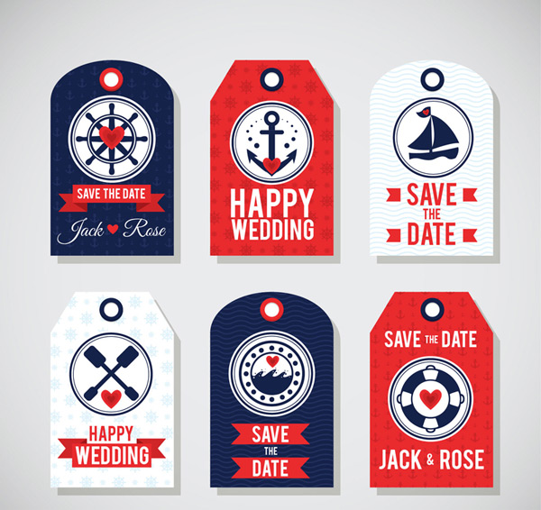 Nautical elements wedding Tags