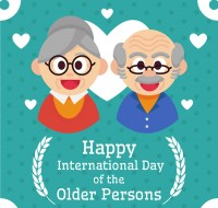 Old people s Day greeting card