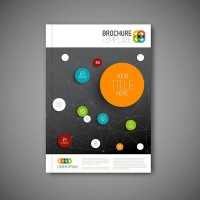 Online icon business Brochure