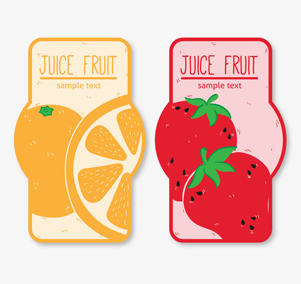 Orange and strawberry Tags