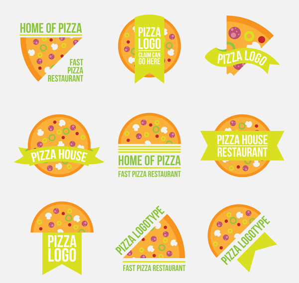 Orange pizza label