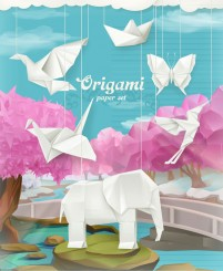 Origami animal illustration