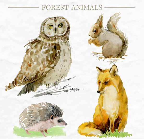Painted Forest Animals