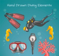 Painted diving elements