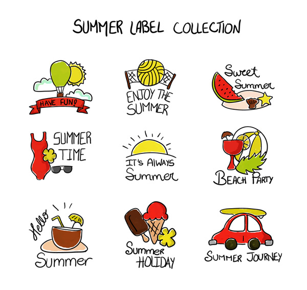 Painted summer Tags