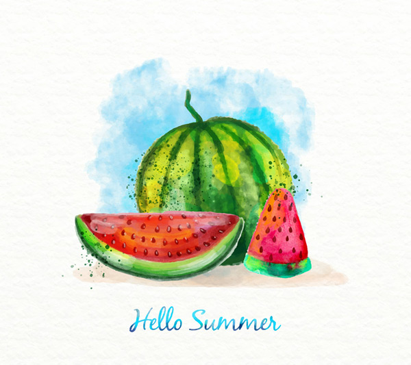 Painted summer watermelon