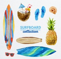 Painted surfing elements