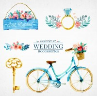 Painted wedding decorations