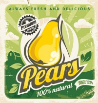 Pear farm products Poster