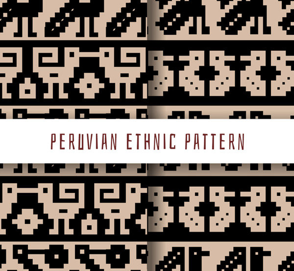Peru ethnic pattern background