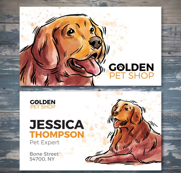Pet shop card