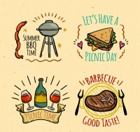 Picnic and barbecue labels