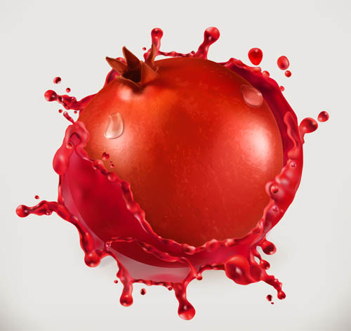 Pomegranate vector material