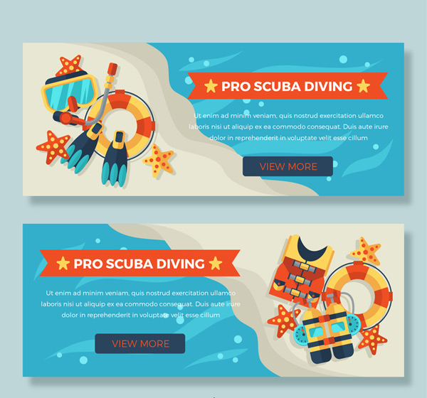 Professional diving banner
