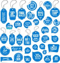 Promotional tags and stickers