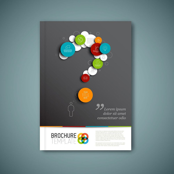 Question mark icon business picture book