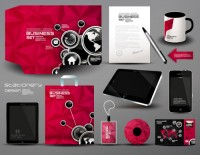 Red business VI template