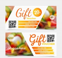 Restaurant gift coupon vector