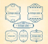 Retro lace label