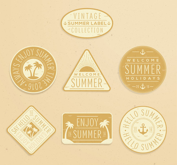 Retro summer label