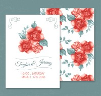 Rose invitation card