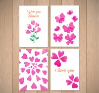Rose red love card