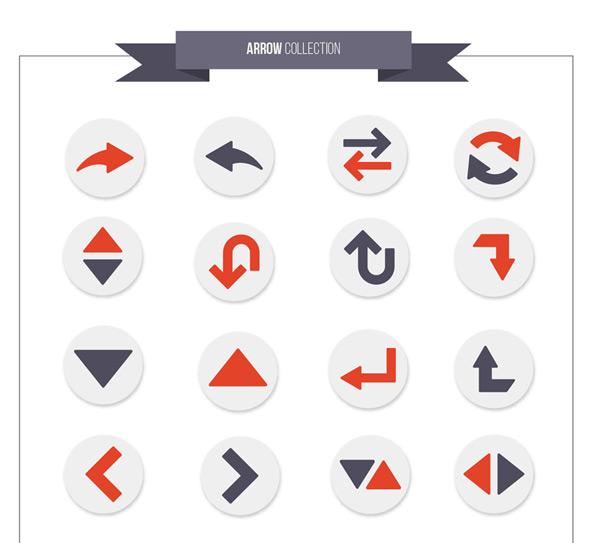 Round arrow icon vector