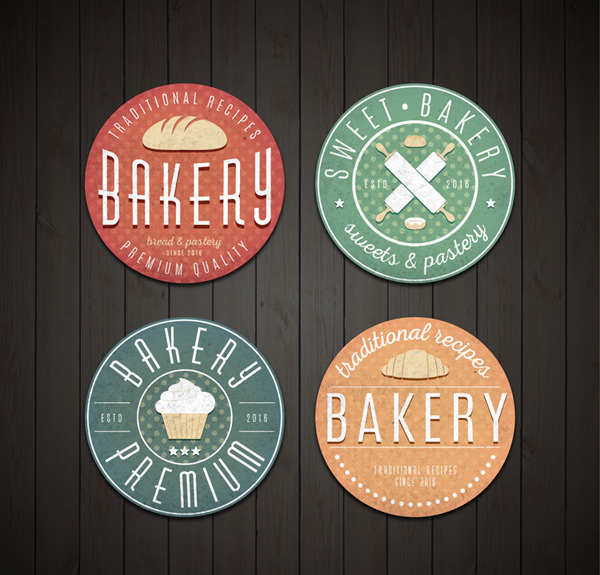 Round bakery labels