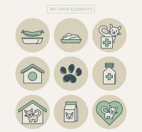 Round pet store elements