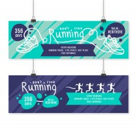 Running competition banner