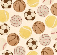 Seamless background of creative ball games