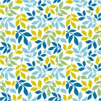 Seamless background of four leaves