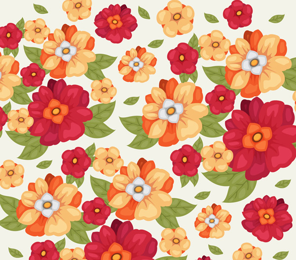 Seamless background of gorgeous flowers
