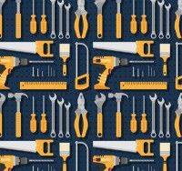 Seamless background of hardware tools