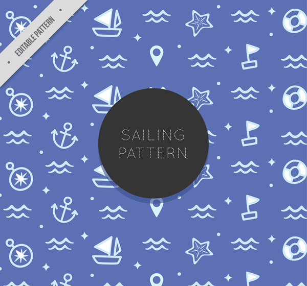 Seamless background of navigational elements