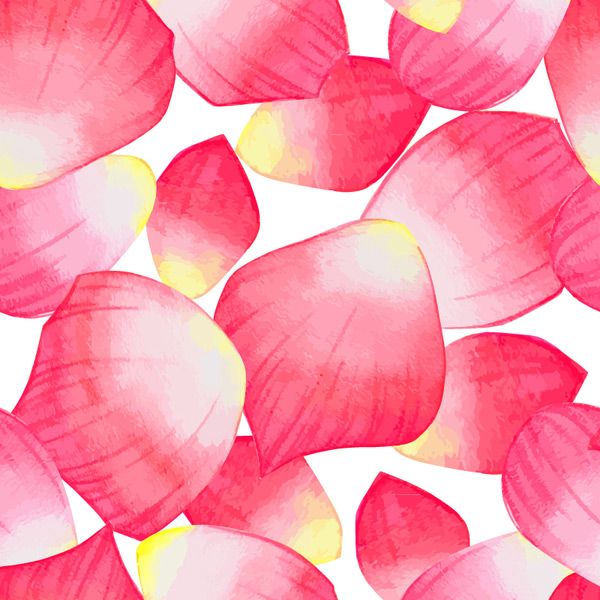 Seamless background of petals